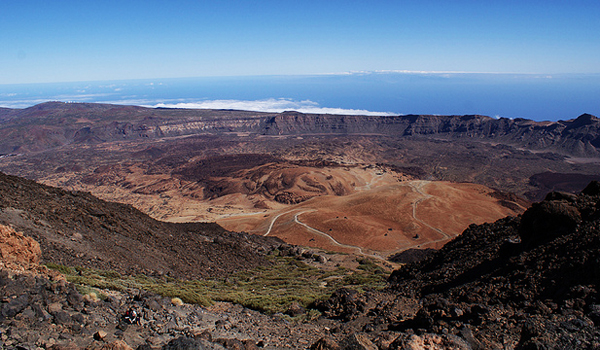 Big crater on Mount Teide