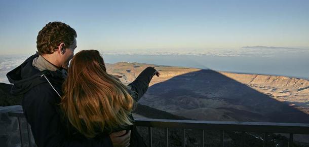Zonsondergang Sterrenkijken Op De Teide Bij Nacht