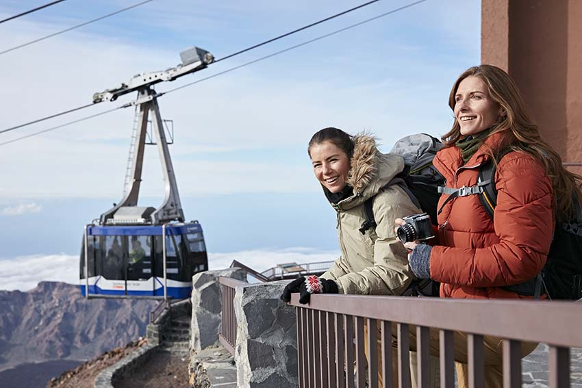 How to get up Mount Teide: cable car