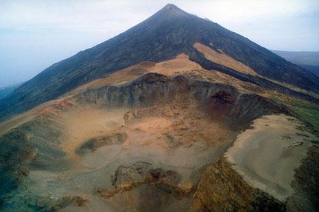 Abenddämmerung Auf Dem Pico Viejo Teneriffa Volcano Teide
