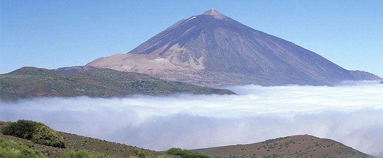 The volcanic activity at Tenerife is the typical of a quiescent volcano