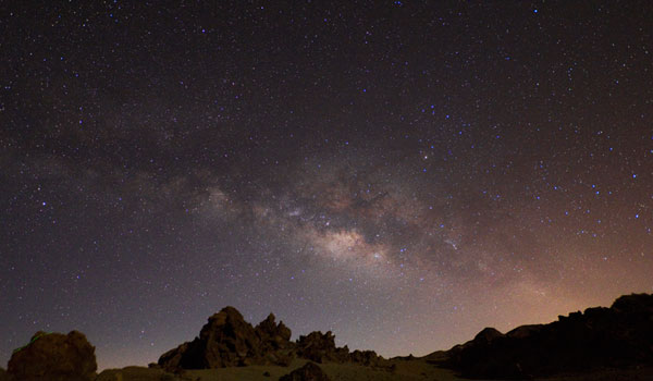 Stargazing in Tenerife - The Milky Way seen from Teide