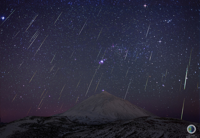 Observe the Geminids meteor shower in Tenerife