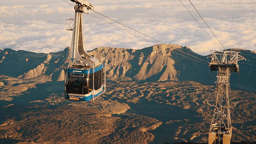 Ascend Mount Teide by cable car and enjoy the wonderful views